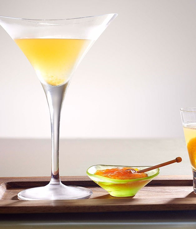 "[**Brunch Martini**](https://www.gourmettraveller.com.au/recipes/chefs-recipes/brunch-martini-7318|target=""_blank"")"