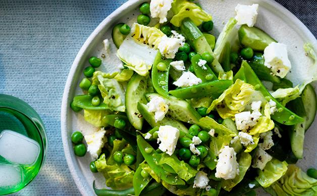 Chopped spring green salad
