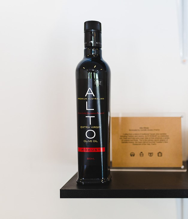 "**ALTO OLIVE OIL** **Chosen by DANIELLE ALVAREZ, FRED'S**  ""This is the perfect olive oil for my palate: big on flavour, but very versatile. I started using it a few years ago at The Fish Shop because one of the Alto owners, Westerly Isbaih, brought some in for me to taste. I knew it was a great olive oil then, and to me it's just gotten better and better. At Fred's we use it for everything - but it's my favourite for finishing pastas and making vinaigrettes. It has a great fruit flavour without overpowering you with heat or bitterness. It's buttery but balanced and feels nice and round on the palate.""  _Alto Robust Extra Virgin Olive Oil, $25 for 500ml, [sorrythanksiloveyou.com/alto-olives](http://sorrythanksiloveyou.com/alto-olives)_"