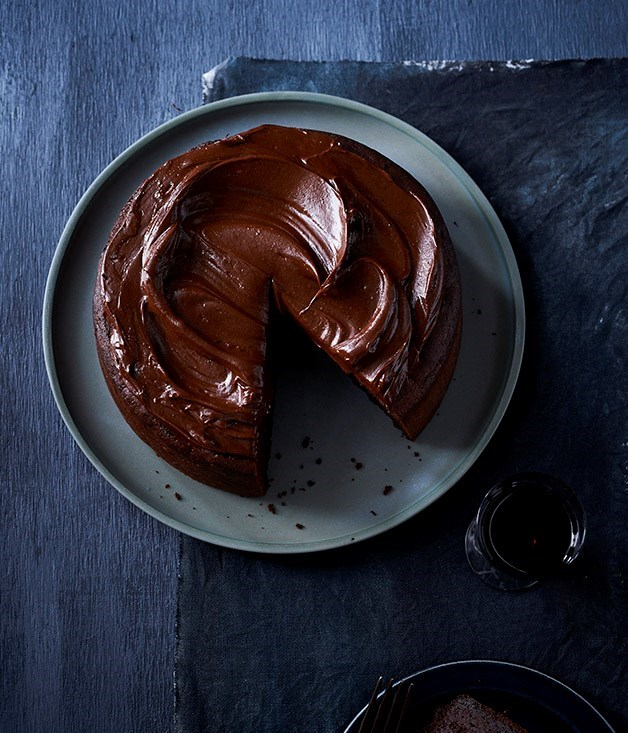 "**23. [Chocolate cake with fudge icing](https://www.gourmettraveller.com.au/recipes/browse-all/chocolate-cake-with-fudge-icing-12755|target=""_blank"")** <br><br> If you love chocolate, this cake is for you - it's rich, dense and fudgy. We love to serve it with a glass of Pedro Ximénez as a seriously luxe dessert, but it's also lovely for morning tea, lightened up with a dollop of whipped cream or crème fraîche and seasonal fruit."