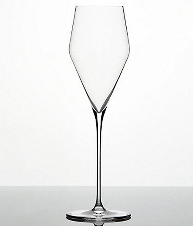 "**ZALTO CHAMPAGNE GLASSES** **Chosen by CAITLYN REES, FRED'S**  ""The design of Zalto's Champagne glasses is beautiful. That's the first thing that grabs you - they're very elegant. Then when you pick them up you realise how extremely fine they are - they almost seem too fragile to drink from. But they're not, I assure you - they're a real pleasure and dishwasher-safe to boot. The Champagne glasses are a particular favourite of mine because they're very close to a white wine glass. More traditional flutes are often too narrow and concentrate all the bubbles at the top of the glass very quickly, and you lose the bubbles and the aroma of the wine much faster that way. Over Christmas, I'll be using these for NV Georges Laval Brut Nature Cumières Champagne. I'll probably pinch a couple of bottles from work.""  _Zalto Champagne Glasses, $118 for a pair, [sorrythanksiloveyou.com/zalto-champagne](http://sorrythanksiloveyou.com/zalto-champagne)_"