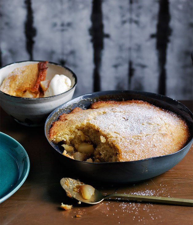 "**15. [Pear, honey and ginger pudding](https://www.gourmettraveller.com.au/recipes/browse-all/pear-honey-and-ginger-pudding-12761|target=""_blank"")** <br><br> This dessert is pure autumn comfort. Try it with the more fragrant wild ginger if you can get your hands on some, or finely grate fresh ginger into the batter for a fresh lift."