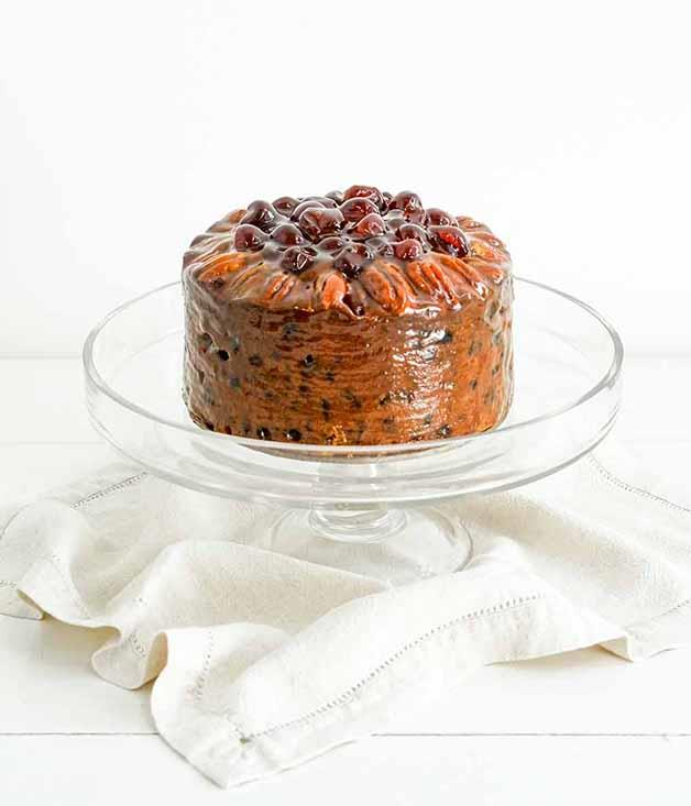 **Jocelyn's Provisions Round Christmas Cake** Brisbane's favourite baker soaks the raisins for this Christmas cake in a mix of orange juice, brandy and rum, while the top is studded with pecans and cherries. It's almost too pretty to eat. Almost.  _$70 for a 15cm cake, [sorrythanksiloveyou.com/jocelyn-christmas-cake](http://sorrythanksiloveyou.com/jocelyn-christmas-cake)_