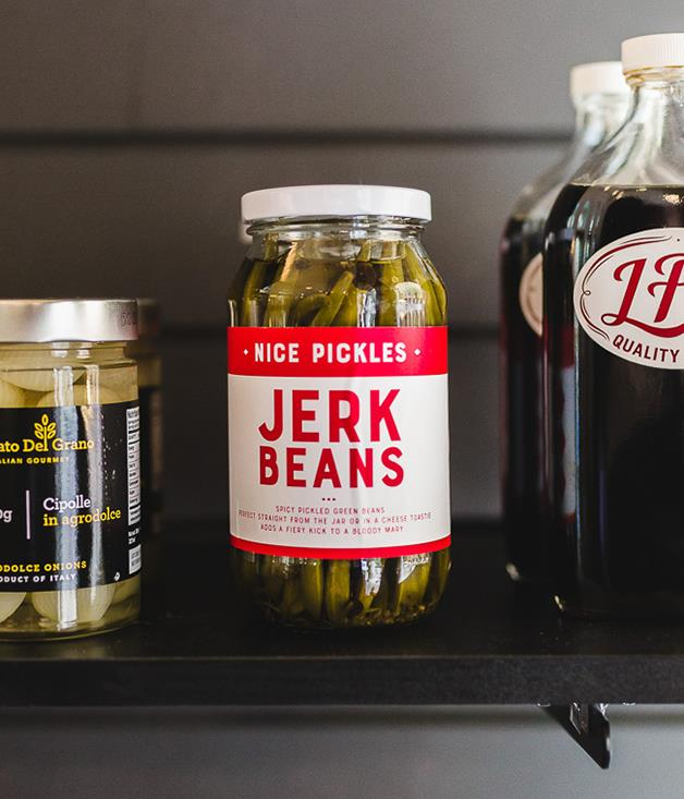 **Nice Pickles Jerk Beans** Just when you thought pickling was yesterday's news, Nice Pickles comes along and changes the game. Green beans in a zesty brine with allspice, black peppercorns and fiery habanero chillies? Sign us up.  _$14 for 500gm, [sorrythanksiloveyou.com/jerk-beans](http://sorrythanksiloveyou.com/jerk-beans)_  Photo by Rowan Jackson.