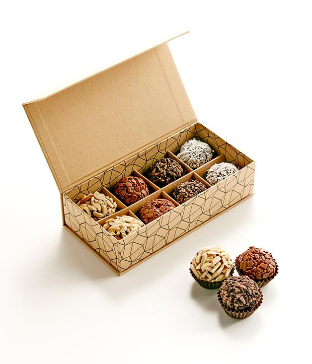 **Sweet Stone Brigadeiro** No ordinary bonbons, these Brazilian-inspired chocolates are made with condensed milk and butter and finished with either flaked almonds, raw coconut or more chocolate. How tempting is that?  _$25 for box of eight, [sorrythanksiloveyou.com/sweet-stone-chocolate-brazilian-brigadeiros-8](http://sorrythanksiloveyou.com/sweet-stone-chocolate-brazilian-brigadeiros-8)_