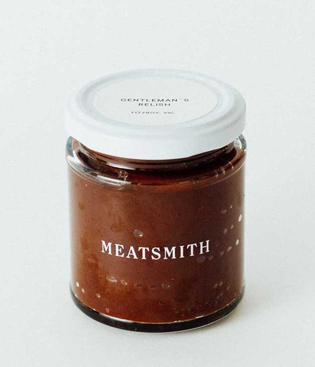 **Meatsmith Gentleman's Relish** Perfect for the grilling enthusiast, Andrew McConnell's smooth blend of Worcestershire and barbecue flavours is the perfect partner for steaks, but it's equally at home with cold meats or on a bacon bap.  _$17 for 180gm, [sorrythanksiloveyou.com/meatsmith-gentlemans-relish](http://sorrythanksiloveyou.com/meatsmith-gentlemans-relish)_