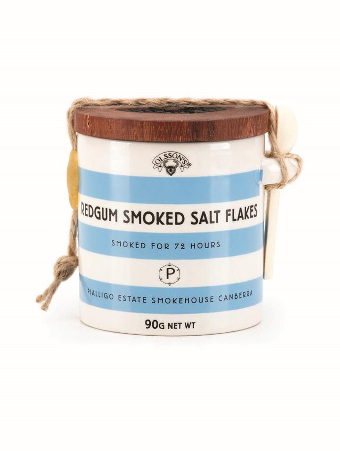 **Olsson's Smoked Salt** Take your scrambled eggs or potato mash to the next level with a pinch of this redgum eucalypt-smoked salt, courtesy of Australia's oldest family-owned and operated salt company.   _$19 for 90g, [sorrythanksiloveyou.com/smoked-salt](http://sorrythanksiloveyou.com/smoked-salt)_