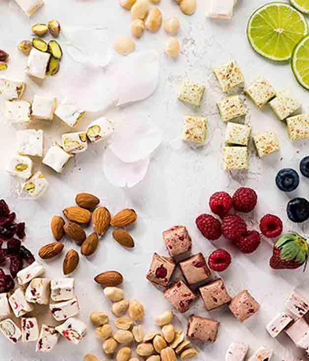 **New Farm Confectionery Rose and Pistachio Nougat** A trip for your loved ones to the Middle East may be beyond the budget, but Queensland's New Farm Confectionery can take them there in one bite with this fragrant, exotic nougat.  _$26 for 100gm, [sorrythanksiloveyou.com/nougat](http://sorrythanksiloveyou.com/nougat)_