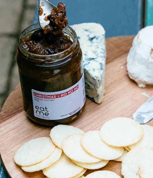 **Eat Me Chutneys Christmas Ho Ho Ho Chutney** Eat Me Chutneys creates ethical and sustainable condiments using imperfect organic produce and Fairtrade sugar and spices. In this case, it's apples, prunes, dates, cranberries and raisins. Pass the Camembert.  _$14 for 250gm, [sorrythanksiloveyou.com/eat-me-ho-ho-ho](http://sorrythanksiloveyou.com/eat-me-ho-ho-ho)_