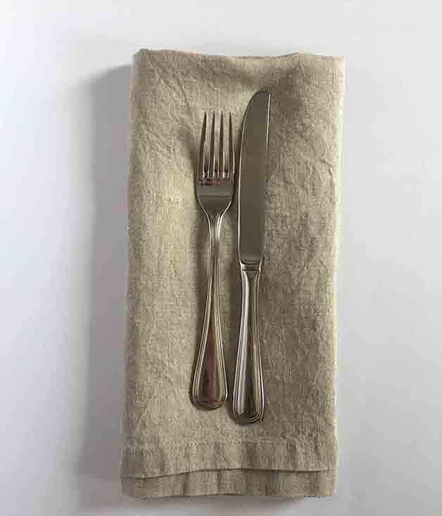 **Tow and Line Napkin Set** Linen on the table always adds a special something, whether it's Sunday brunch or a dinner party with your nearest and dearest.  _$40 for four napkins, [sorrythanksiloveyou.com/tow-and-line-napkinset](http://sorrythanksiloveyou.com/tow-and-line-napkinset)_
