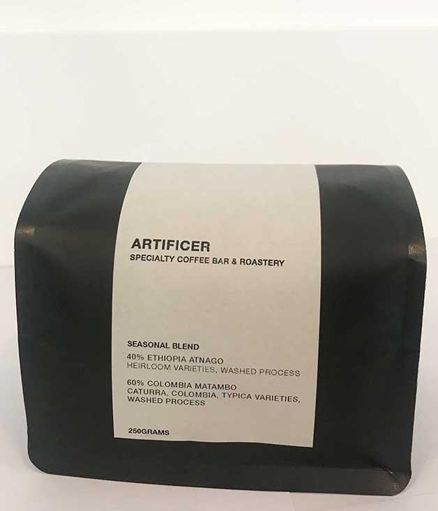 **Artificer Coffee Seasonal Blend** A cup of coffee made from beans that have been expertly sourced and roasted from a stalwart team in Surry Hills? Now, that's a gift worth giving.  _$18 for 250gm, [sorrythanksiloveyou.com/artificer-coffee](http://sorrythanksiloveyou.com/artificer-coffee)_