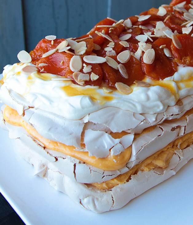 **Dried apricot pavlova** As seen on Foxtel's [The Great Australian Bake Off](https://www.lifestyle.com.au/bakeoff/), Maggie Beer's dried apricot pavlova is incredible from top to bottom - light, sweet and topped with seasonal fruit.  Click [here](https://www.lifestylefood.com.au/recipes/24854/dried-apricot-pavlova) for the recipe.