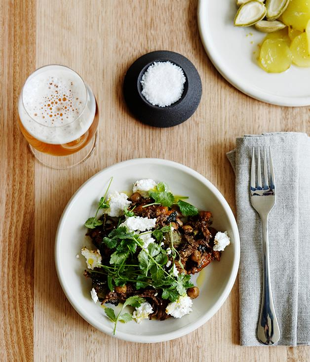 The Agrarian Kitchen Eatery & Store's braised goat with goat's curd