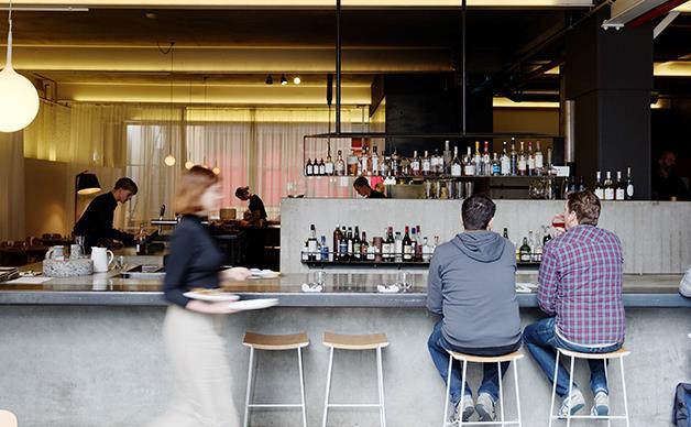 The bar at Franklin, Hobart