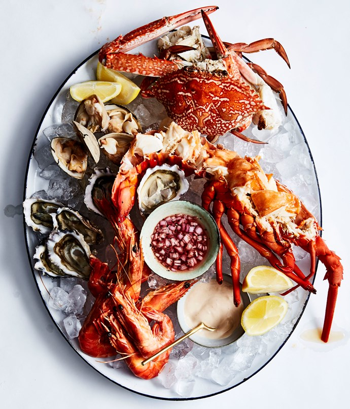 **Seafood platter** Photography: Andrew Finlayson  Styling: Lisa Featherby