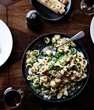 Tipo 00's orecchiette with broccolini, anchovy, garlic, chilli and Asiago