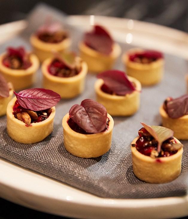 **Walnut and pomegranate tarts**