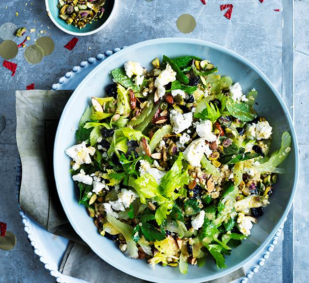 Freekeh, sour cherry and feta salad