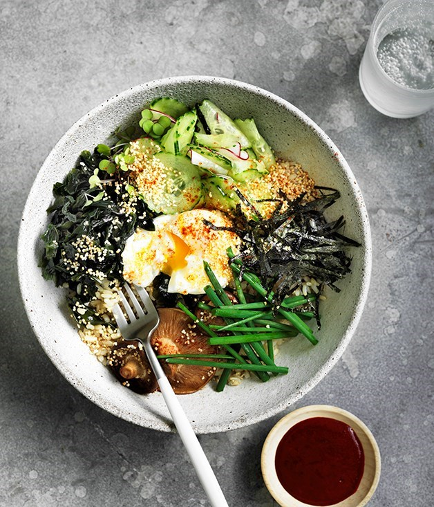 "[**Seaweed, amaranth and brown rice bowl**](https://www.gourmettraveller.com.au/recipes/browse-all/seaweed-amaranth-and-brown-rice-bowl-12701|target=""_blank"")"