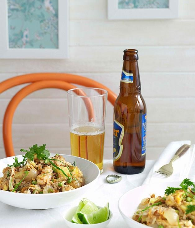 "**[Rae's on Watego's fried rice with prawns, pineapple, green onion and coriander](https://www.gourmettraveller.com.au/recipes/chefs-recipes/fried-rice-with-prawns-pineapple-green-onion-and-coriander-8907|target=""_blank"")**"