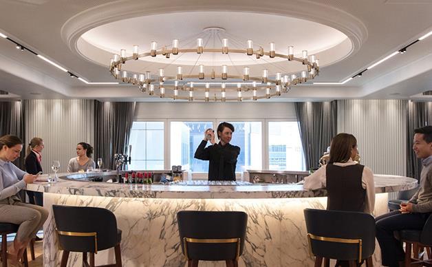 Qantas' luxurious lounge at Heathrow