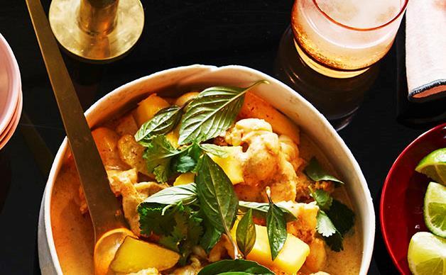 Moreton Bay bug curry with mango