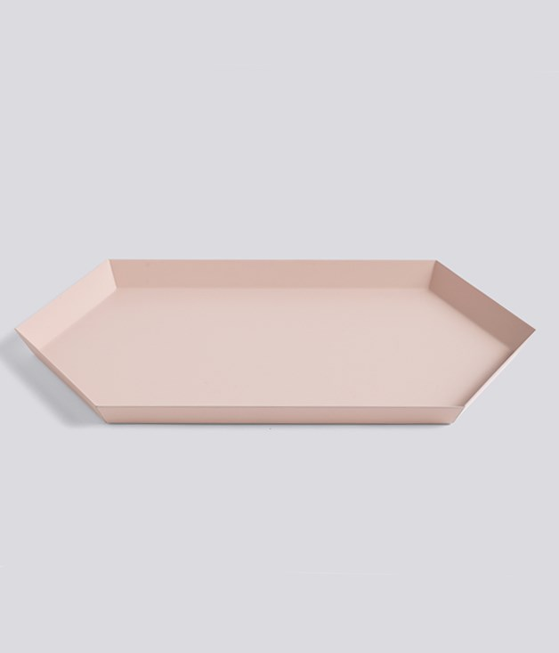 **Kaleido tray** Functionality informs beauty in this steel, geometrically shaped tray, available in a kaleidoscopic range of colours. The perfect present, it's made even better when it comes with breakfast._[hay.dk/en](http://hay.dk/), $64._