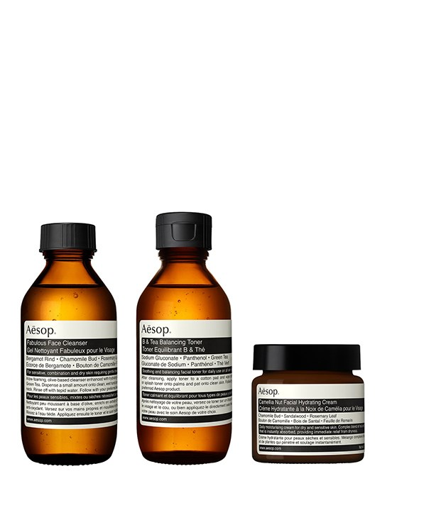 **Aesop Proximity gift kit** This kit contains a complete skincare regimen, with Fabulous Face Cleanser, B & Tea Balancing Toner and sandalwood-scented Facial Hydrating Cream. Together, they smell and feel so good you could be tempted to try the goods yourself while your darling's not looking._[aesop.com/au](https://www.aesop.com/au), $110._