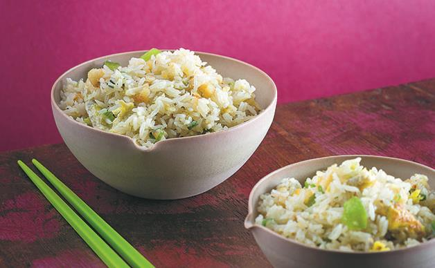 Macanese fried rice with cod