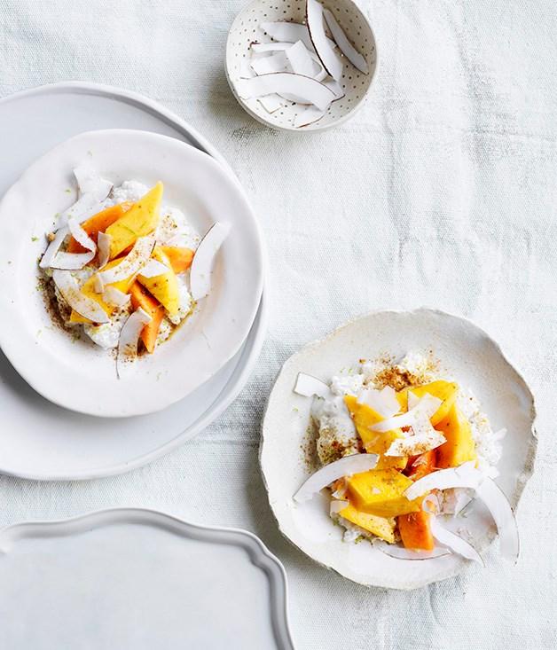 Mango, papaya and chilled coconut tapioca