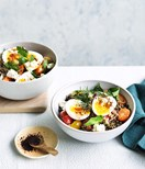 Middle Eastern-style breakfast bowl