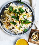 Chicken noodle salad with turmeric-ginger dressing