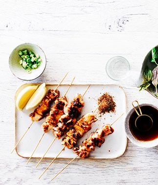 Yakitori with Japanese spices