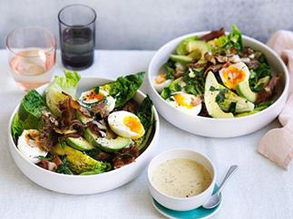 Bacon, egg and avocado salad