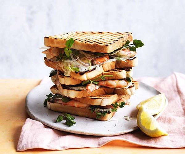 "[Charred prawn sandwich with fennel, lemon myrtle and lime](http://www.gourmettraveller.com.au/recipes/fast-recipes/charred-prawn-sandwich-with-fennel-lemon-myrtle-and-lime-15556|target=""_blank"")"