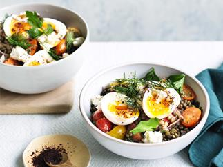Middle Eastern-style breakfast bowl