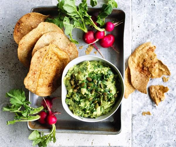 "**[Rough guacamole](http://www.gourmettraveller.com.au/recipes/browse-all/rough-guacamole-15671|target=""_blank"")**"