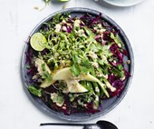 Crunchy slaw with peanut-lime dressing