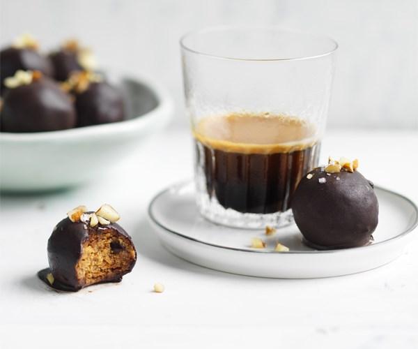 Almond-maple bliss balls
