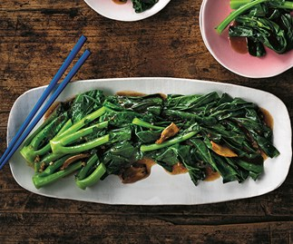 This Cantonese staple dish combines juicy bits of Chinese broccoli with a hearty oyster sauce