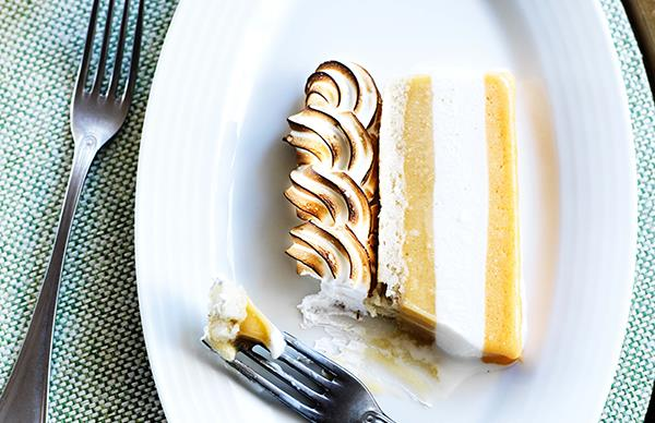 Apricot and peach frozen slice at Bert's Bar & Brasserie in Newport is just one of Gourmet Traveller's favourite dishes this autumn