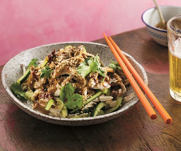 "**[Tony Tan's bang bang chicken](https://www.gourmettraveller.com.au/recipes/chefs-recipes/bang-bang-chicken-8646|target=""_blank"")**"