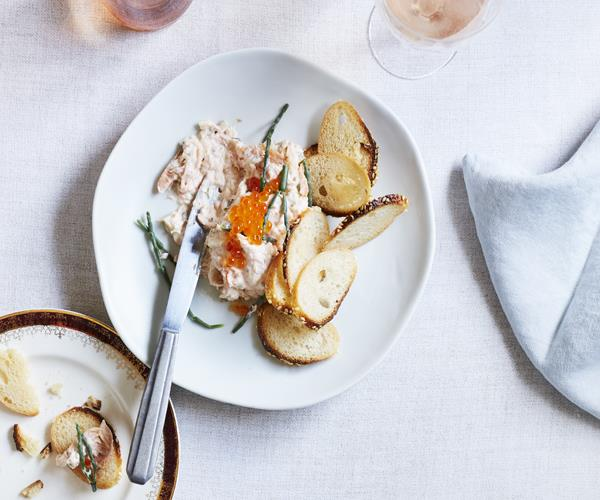 """[Smoked trout pâté](http://www.gourmettraveller.com.au/recipes/chefs-recipes/smoked-trout-pate-15769