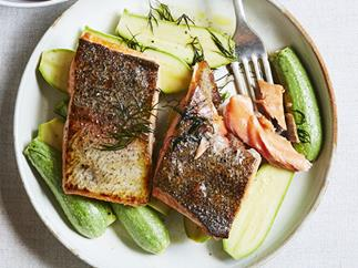 King trout and Lebanese zucchini