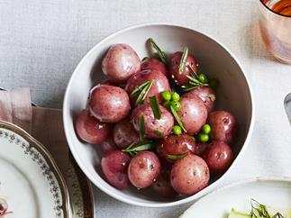 Potato and pea salad