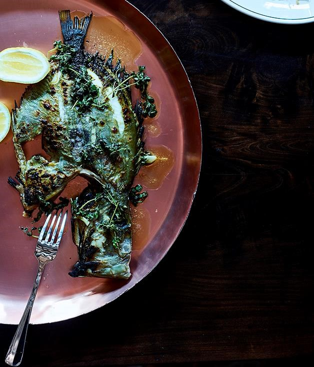 """[John Dory with herb butter](https://www.gourmettraveller.com.au/recipes/chefs-recipes/john-dory-with-herb-butter-15617