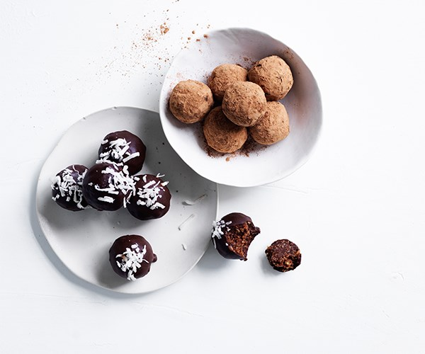 Raw black forest truffles