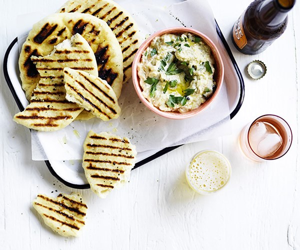 "[**Smoky eggplant dip with charred bread**](http://www.gourmettraveller.com.au/recipes/browse-all/smoky-eggplant-dip-with-charred-bread-15828|target=""_blank"")"
