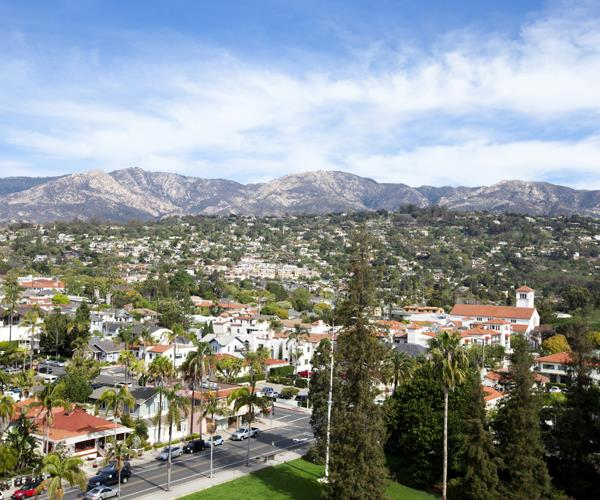 Santa Barbara, framed by the Santa Ynez Mountains, is a perfect mix of urban Californian cool and natural wonders.