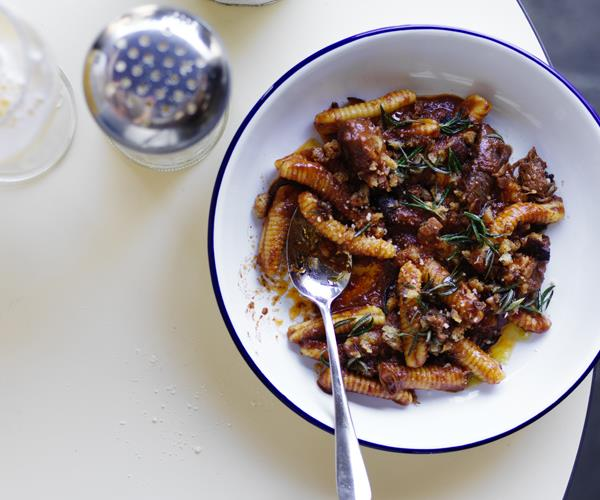 """**[Lamb shoulder ragù with gnocchetti](http://www.gourmettraveller.com.au/recipes/chefs-recipes/lamb-shoulder-ragu-with-gnocchetti-15905